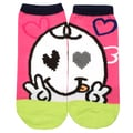 Angelina Creative Heart-Eye Fun Design Ankle Socks
