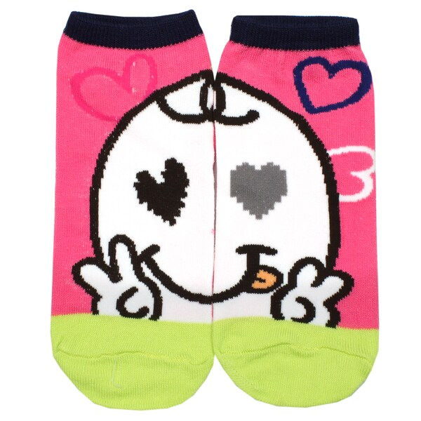Angelina Creative Heart-Eye Fun Design Ankle Socks