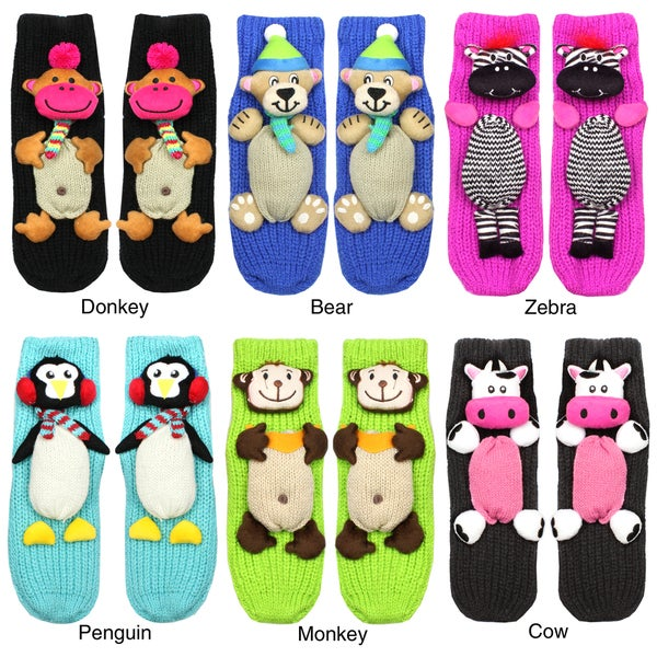 Angelina Animal Anti-slip Socks (Size 6-8)