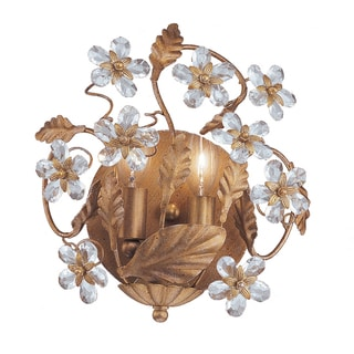 Abbey Gold Leaf 2-light Wall Sconce