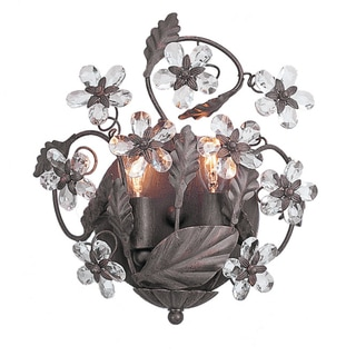 Abbey Dark Rust 2-light Wall Sconce
