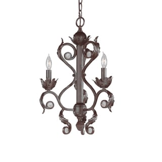 Winslow 3-light Dark Rust Mini Chandelier