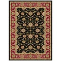 Traditional Ankara Collection Zeigler Black Area Rug (5'3 x 7'3)
