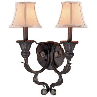 Winslow 2-light Dark Rust Wall Sconce