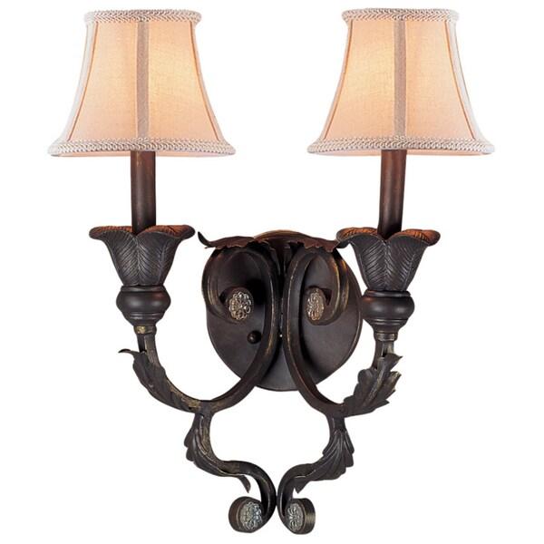Winslow 2-light Dark Rust Wall Sconce