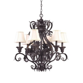 Winslow 6-light Dark Rust Chandelier