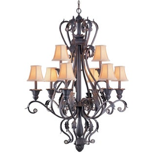 Winslow 9-light Dark Rust Chandelier