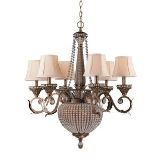 Roosevelt Weathered Patina 6+2-light Chandelier