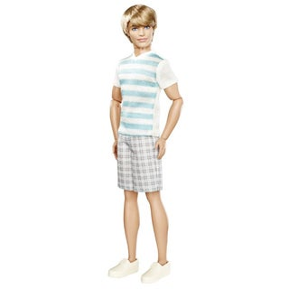 Barbie Fashionistas Ken Striped Shirt Doll