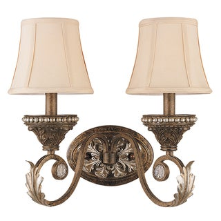 Roosevelt Weathered Patina 2-light Wall Sconce