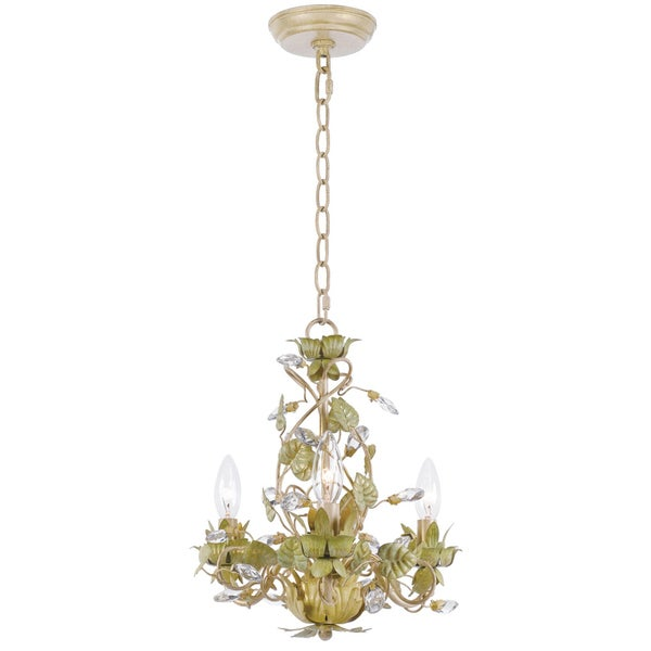 Transitional Champagne 3-light Chandelier