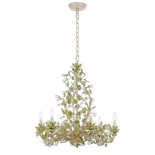Transitional Champagne 6-light Chandelier