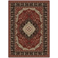 Oriental Ankara Collection Kerman Red Area Rug (5'3 x 7'3)