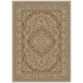 Ankara Collection Beige/ Red Area Rug (5'3 x 7'3)