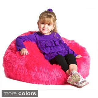 Christopher Knight Sullivan Children's Faux Fur Bean-bag Lounge Chair