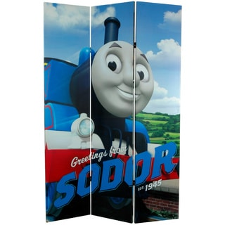 6-Foot Tall Double Sided Thomas Greetings from Sodor Canvas Room Divider