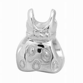De Buman Sterling Silver Dress Charm Bead