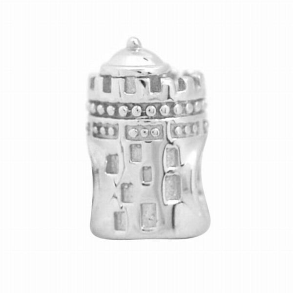 De Buman Sterling Silver Castle Charm Bead
