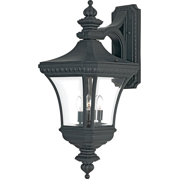 Quoizel Devon Large Black Wall Lantern