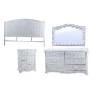 Headboard Mirror and Chest Bedroom Set