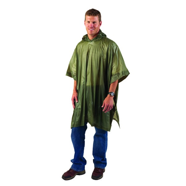 Texsport Vinyl Green Poncho