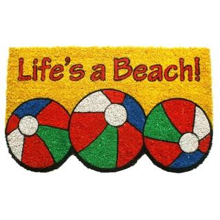 Life's a Beach Coir Doormat (17 x 28)