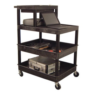 Luxor 4-shelf Plastic Utility Cart