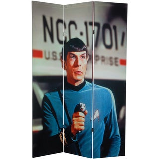 6-Foot Tall Double Sided Star Trek Spock and McCoy Canvas Room Divider