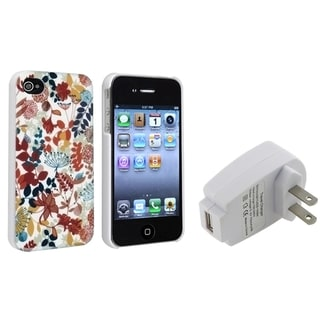 BasAcc Leaves Case/ Travel Charger Adapter for Apple iPhone 4/ 4S
