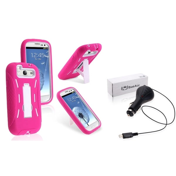 BasAcc Case/ Retractable Car Charger for Samsung Galaxy S III/ S3
