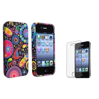 BasAcc TPU Case/ Screen Protector for Apple iPhone 4/ 4S