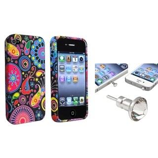 BasAcc TPU Case/ Clear Diamond Dust Cap for Apple iPhone 4/ 4S