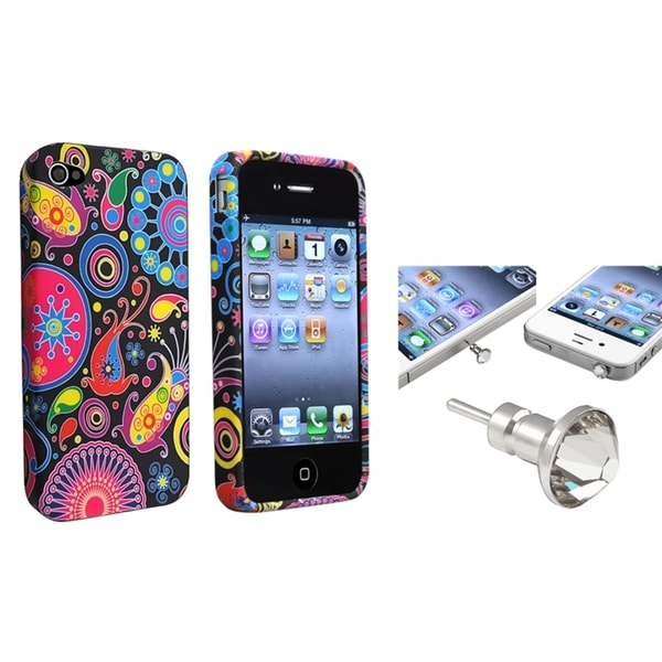 BasAcc TPU Case/ Clear Diamond Dust Cap for Apple iPhone 4/ 4S