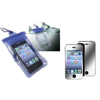 BasAcc Waterproof Bag/ Mirror Screen Protector for Apple iPhone 4/ 4S
