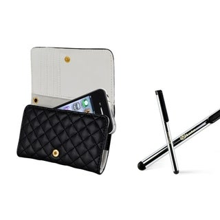 BasAcc Black Leather Case/ Stylus for Apple iPhone 4/ 4S