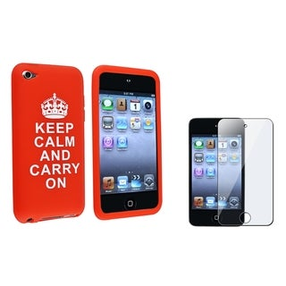 INSTEN Skin iPod Case Cover/ LCD Protector for Apple iPod Touch 4th Generation