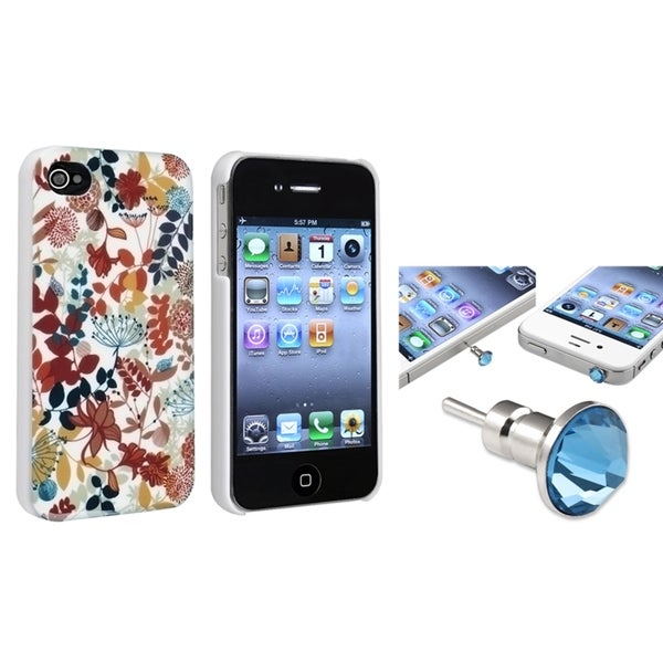 BasAcc Snap-on Case/ Light Blue Dust Cap for Apple iPhone 4/ 4S