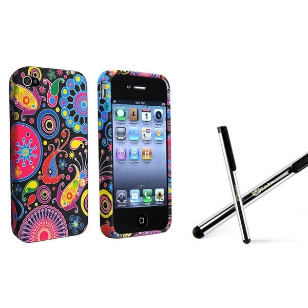 BasAcc TPU Case/ Silver Stylus for Apple iPhone 4/ 4S