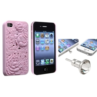 BasAcc Snap-on Case/ Clear Diamond Dust Cap for Apple iPhone 4/ 4S