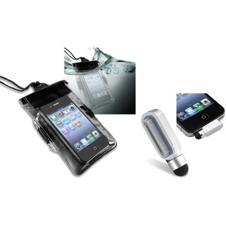 BasAcc Waterproof Bag/ Stylus with Eject Pin for Apple iPhone 4/ 4S