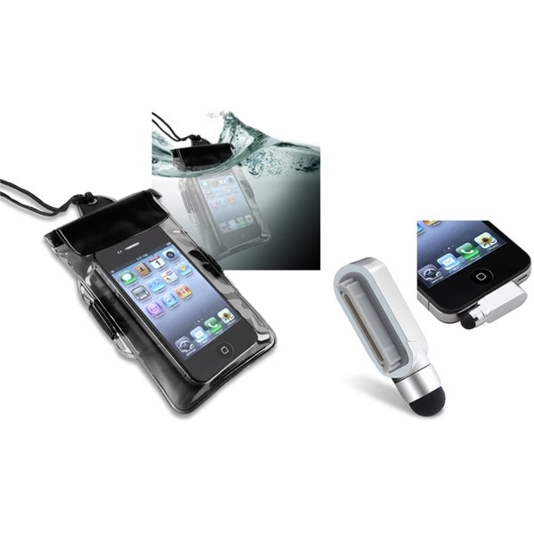 INSTEN Waterproof Bag/ Stylus with Eject Pin for Apple iPhone 4/ 4S