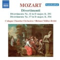 Cologne Chamber Orchestra - Mozart: Divertimenti Nos. 11 and 17