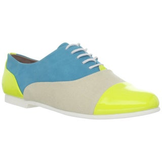Steve Madden Women's Yellow Multi Oxford Shoes