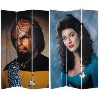 Star Trek 'Worf/Troi' 6-foot Canvas Room Divider