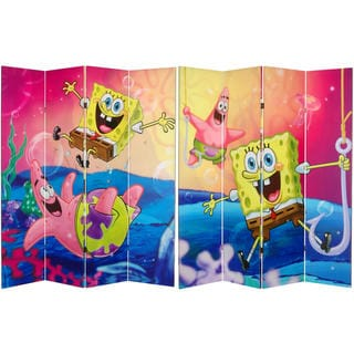 6-Foot Sponge Bob Canvas Room Divider
