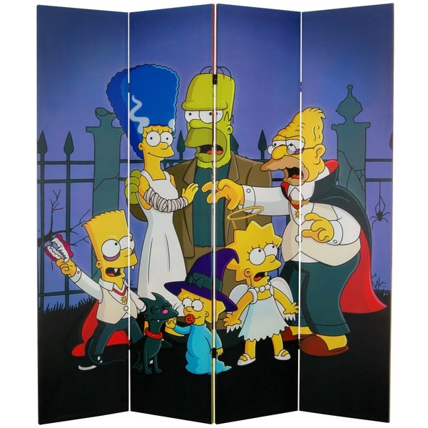 6-Foot Tall The Simpsons Canvas Room Divider
