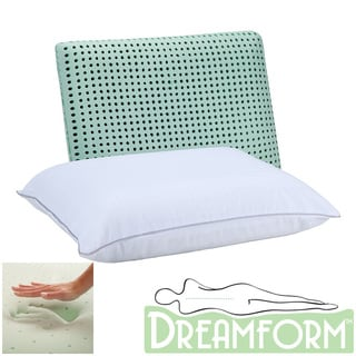 Dream Form Green Tea Ventilated Memory Foam Pillow