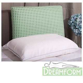 Dream Form Green Tea Ventilated Standard-size Memory Foam Pillow
