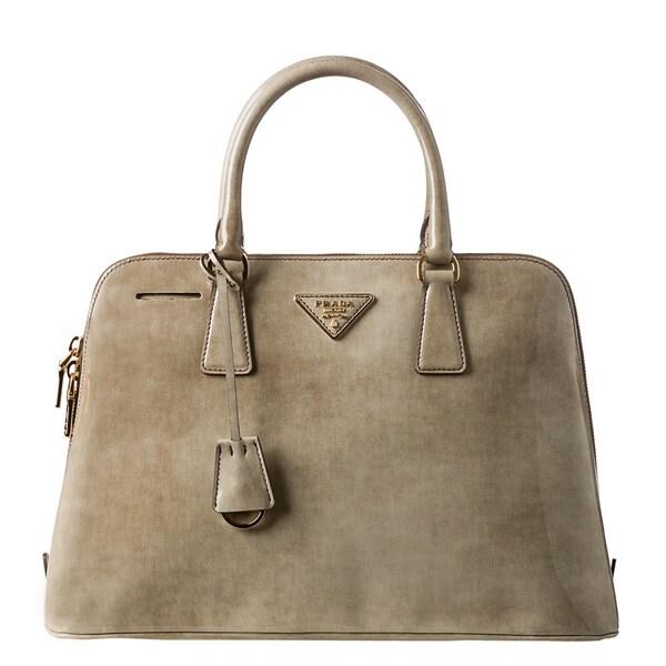 Prada Beige Leather Double Handled Satchel