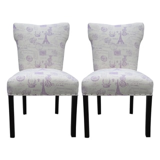 Bella French Grape Dining Chairs (Set of 2)